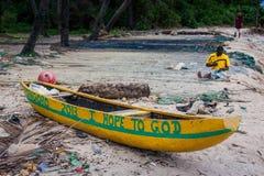 Yongoro, Sierra Leone, África occidental - las playas de Yongoro Imagen de archivo