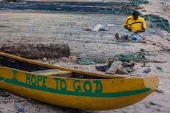 Yongoro, Sierra Leone, África occidental - las playas de Yongoro Foto de archivo