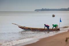 Yongoro, Sierra Leone, África occidental - las playas de Yongoro Fotografía de archivo libre de regalías
