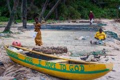 Yongoro, Sierra Leone, África occidental - las playas de Yongoro Imágenes de archivo libres de regalías