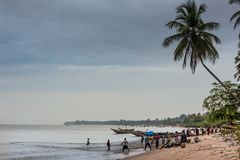 Yongoro, Sierra Leone, África occidental - las playas de Yongoro Foto de archivo libre de regalías