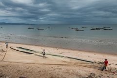 Yongoro, Sierra Leone, afryka zachodnia - plaże Yongoro Obraz Royalty Free