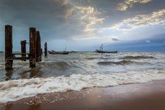 Yongoro, Sierra Leone, afryka zachodnia - plaże Yongoro Obrazy Stock