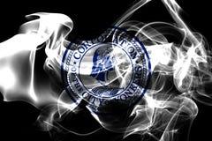 Yonkers市烟旗子,纽约州, Americ美国  免版税图库摄影