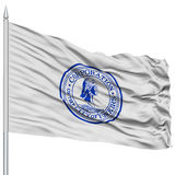 Yonkers City Flag on Flagpole, USA Stock Image