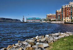Yonkers Waterfront. Scenic view of redevelopment of the Yonkers, NY waterfront Royalty Free Stock Images