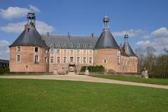Yonne, το γραφικό κάστρο Αγίου Fargeau Στοκ φωτογραφίες με δικαίωμα ελεύθερης χρήσης