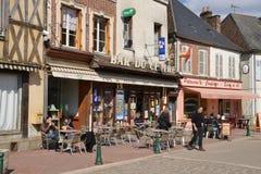 Yonne, το γραφικό χωριό Αγίου Fargeau Στοκ Εικόνες