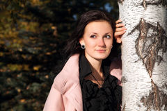 Yonug beautiful woman. Portrait of young beautiful woman royalty free stock photography