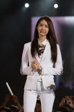 YoonA (SNSD band) at the Human Culture EquilibriumConcert Korea Festival in Viet Nam Royalty Free Stock Image