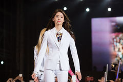 YoonA (SNSD band) at the Human Culture EquilibriumConcert Korea Festival in Viet Nam royalty free stock photography
