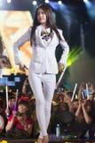 YoonA (SNSD-musikband) på den EquilibriumConcert Korea för mänsklig kultur festivalen i Vietnam Royaltyfria Foton