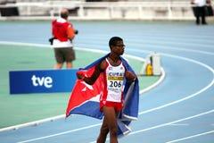 Yordan L.O'Farrill de Cuba celebra ganar Imagen de archivo