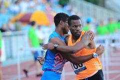 Yordan OÂ'Farrill e Shane Brathwaite - obstáculos de 110 m Fotos de Stock Royalty Free