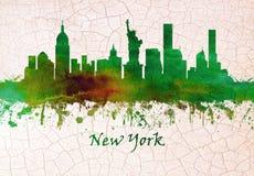 Горизонт Нью-Йорка иллюстрация вектора