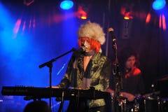 YORK 27 FÉVRIER NEUF : Le groupe TESSA de musique exécute sur l'étape pendant le festival russe de roche chez Webster Hall images libres de droits