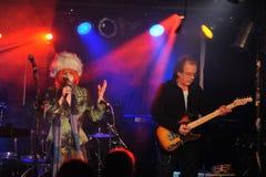 YORK 27 FÉVRIER NEUF : Le groupe TESSA de musique exécute sur l'étape pendant le festival russe de roche chez Webster Hall images stock