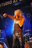 YORK 27 FÉVRIER NEUF : Les poupées de Sexxx de groupe de musique exécute sur l'étape pendant le festival russe de roche chez Webst Images libres de droits