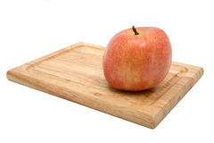 York Apple on Cutting Board 2 Royalty Free Stock Images