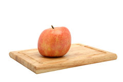 York Apple on Cutting Board Royalty Free Stock Photos