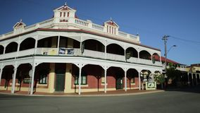 Castle Hotel in York. York, Australia - Dec 25, 2017: Castle Hotel corner on Avon Terrace, York, a popular tourist and historic town east of Perth. Heritage stock video footage