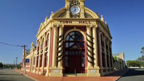 York Town Hall. York, Australia - Dec 25, 2017: York Town Hall, Avon Valley, 97 kilometres east of Perth, heritage listed Victorian and Federation buildings stock footage