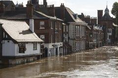 York überschwemmt - Sept.2012 - Großbritannien Lizenzfreies Stockfoto
