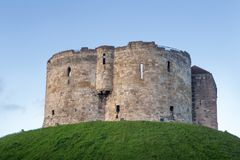 York Castle in York, England. York Castle in the city of York, England. built on a grass mound, formerly used as a prison and royal mint Royalty Free Stock Photo