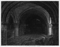 York Cathedral, Crypt under the Altar Stock Photography