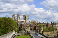 York city centre viewed from York City Wall Stock Image