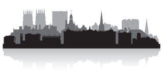 York England city skyline silhouette Stock Photography