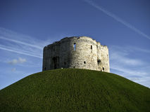 York, Clifford's Tower. Clifford's Tower in York, England Royalty Free Stock Photo