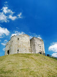 York Cliffords Tower. One of the main touristic attractions in York, United Kingdom Royalty Free Stock Photography