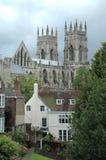York domkyrka i den forntida staden av York Arkivbilder