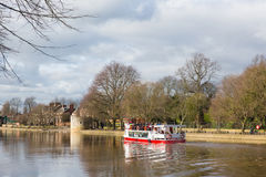 York England boat trip on the River Ouse a popular tourist attraction. York uk boat trip on the River Ouse a popular tourist attraction Royalty Free Stock Photos
