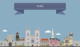 York, England. York, city at the confluence of the rivers Ouse and Foss in North Yorkshire, England royalty free illustration