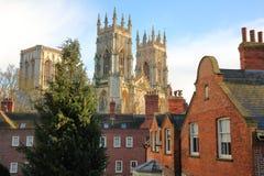 YORK ENGLAND: Domkyrkan i York Arkivbilder