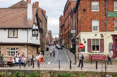 People at East Riverside Waterfront River Ouse York royalty free stock photo