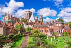 York, England, United Kingdom: York Minster, one of the largest of its kind in Northern Europe. York, England, United Kingdom: York Minster, cathedral of York royalty free stock photo