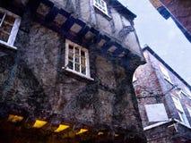 Edificios del siglo XV en York Imagenes de archivo