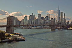 York för Brooklyn bro stad Fotografering för Bildbyråer