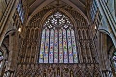 York Förenade kungariket - 02/08/2018: Inre York domkyrka Royaltyfria Bilder