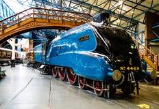 York Förenade kungariket - 02/08/2018: Värld rec för lokomotiv för ånga A4 royaltyfri fotografi