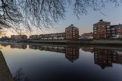 York flodstrandcityscape royaltyfri fotografi
