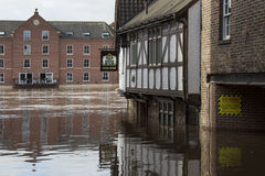 York Floods - Sept.2012 - UK royalty free stock image