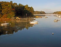 York-Fluss, York, Maine Stockbilder