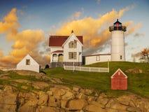 York-Hafen, Maine Stockbild