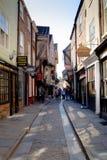 York-heilloser Durcheinander, mittelalterliche Straße Stockfotografie