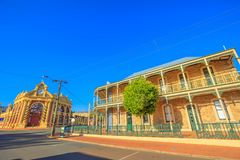 York historic town. York, Australia - Dec 25, 2017: Town Hall and Imperial Inn on Avon Terrace in York, a popular tourist and historic town east of Perth stock photography