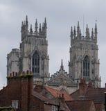 York Inglaterra Reino Unido Vista de la iglesia de monasterio de York, una el ` s del mundo la mayoría de las catedrales magnífic fotografía de archivo libre de regalías